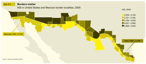 US-Mexico Border HDI